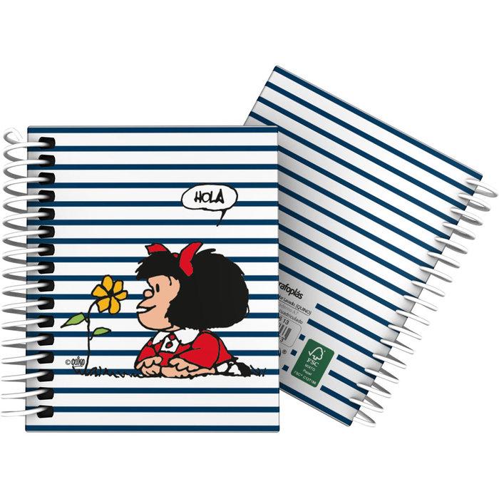 Cuaderno forrada a7 cuadros mafalda 20 marinera