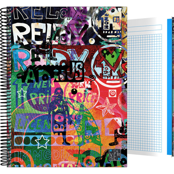 Cuaderno forrado a4 diverse 21 relax 2