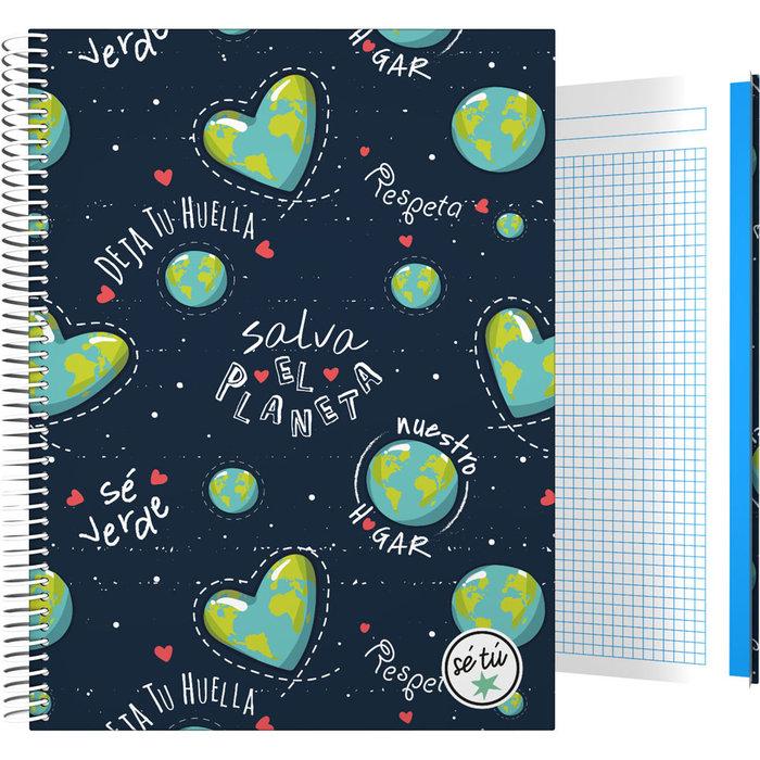 Cuaderno forrado a4 se tu 21 planet
