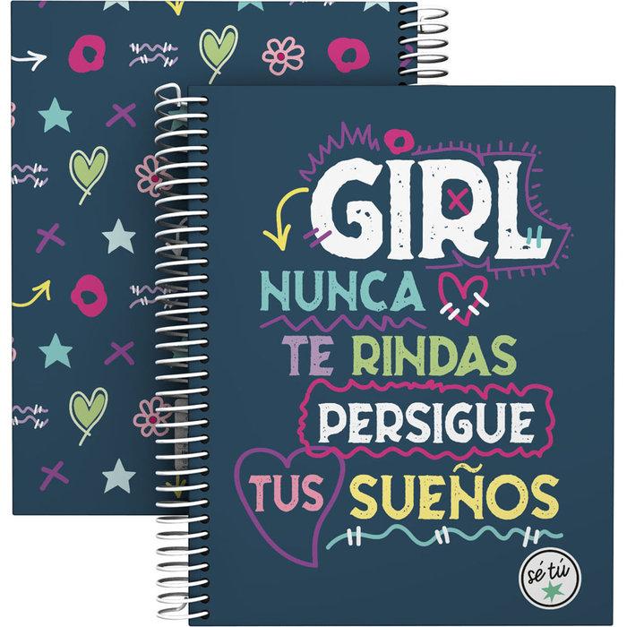 Cuaderno forrado a5 se tu 21 girl