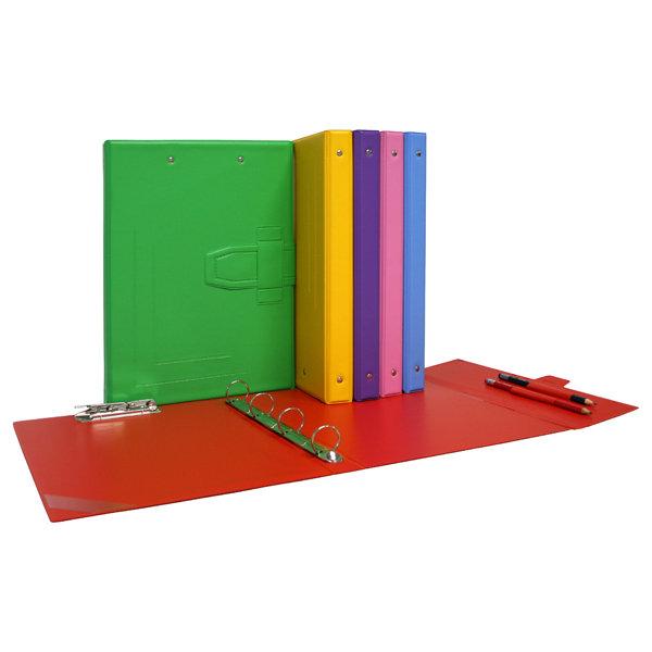 Carpeta fº 4/a y miniclip colors pvc verde claro