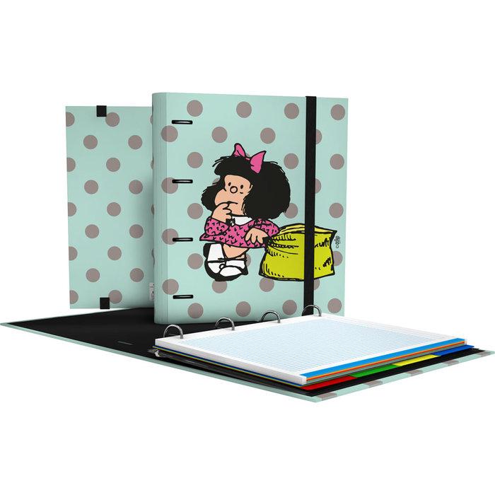 Carpebook 4 anillas 35mm a4 mafalda 20 dots