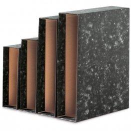 Caja archivador folio negro novoclas