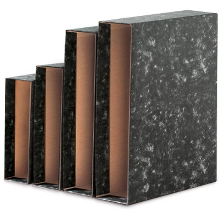 Caja archivador a4 negro novoclas