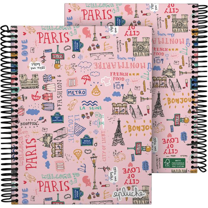 Cuaderno forrado a5 laurie 21 paris
