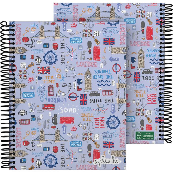 Cuaderno forrado a5 laurie 21 londres