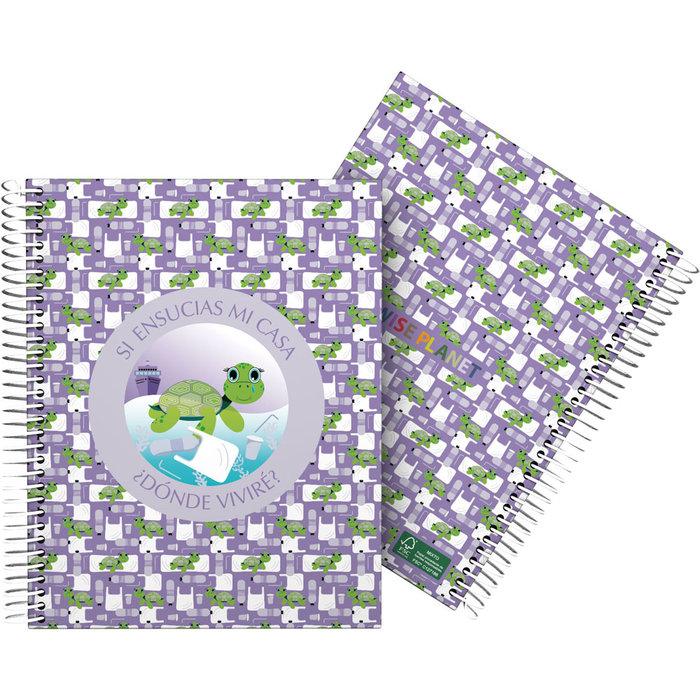 Cuaderno forrado a5 planet 21 tortuga