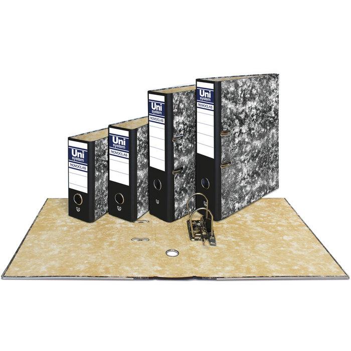 Archivador folio con caja negro novoclas
