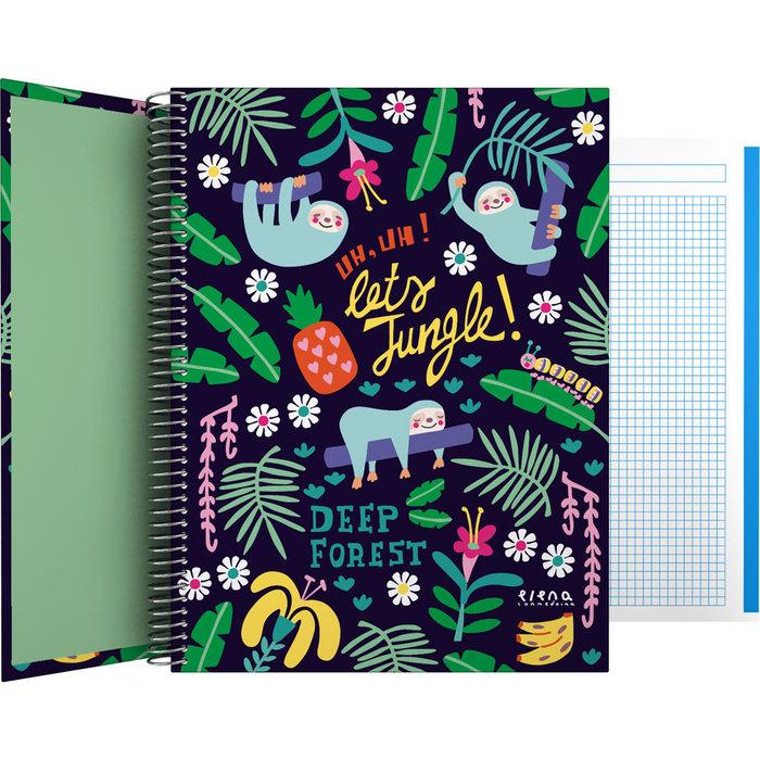 Cuaderno forrado a4 ec 21 jungle