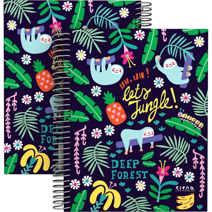 Cuaderno forrado a5 ec 21 jungle