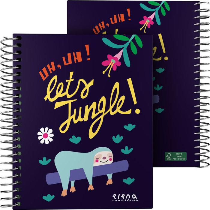 Cuaderno forrado a6 ec 21 jungle