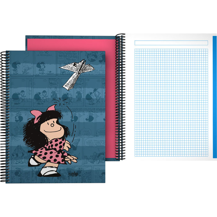 Cuaderno forrado a4 mafalda 21 avion
