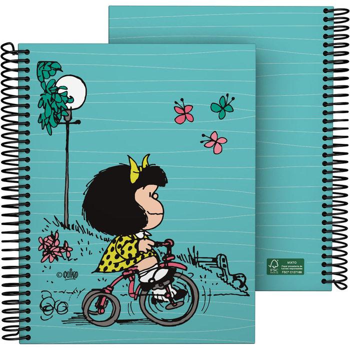 Cuaderno forrado a5 mafalda 21 bici