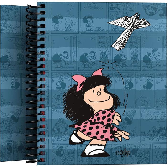 Cuaderno forrado a6 mafalda 21 avion