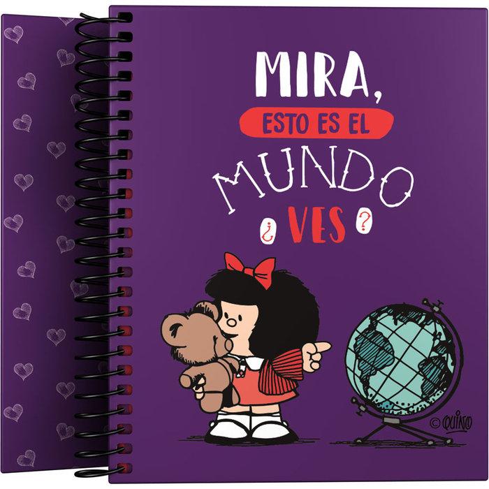 Cuaderno for. a6 mafalda 21 mundo