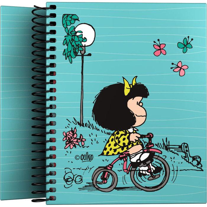 Cuaderno forrado a6 mafalda 21 bici