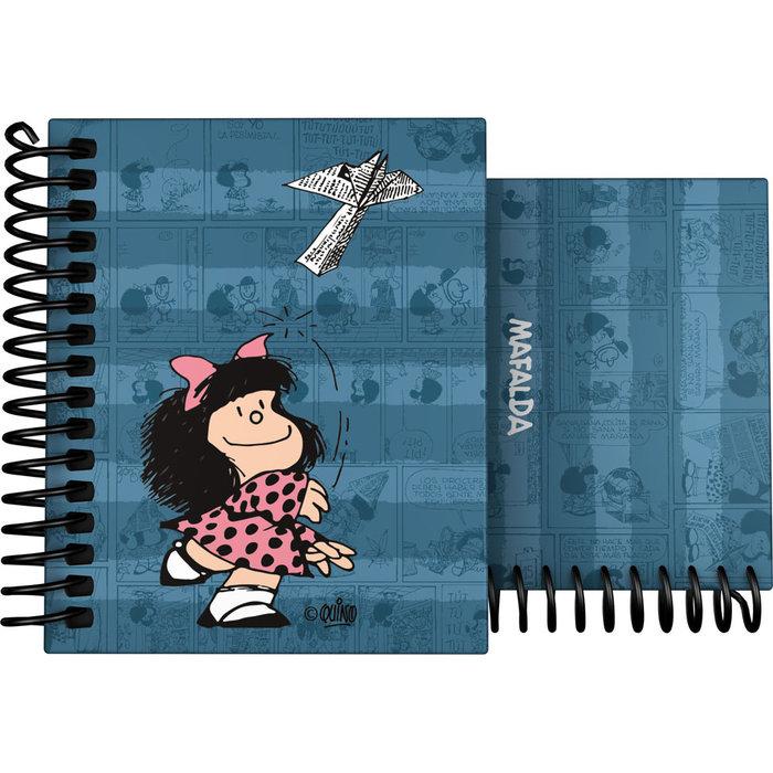 Cuaderno forrado a7 mafalda 21 avion