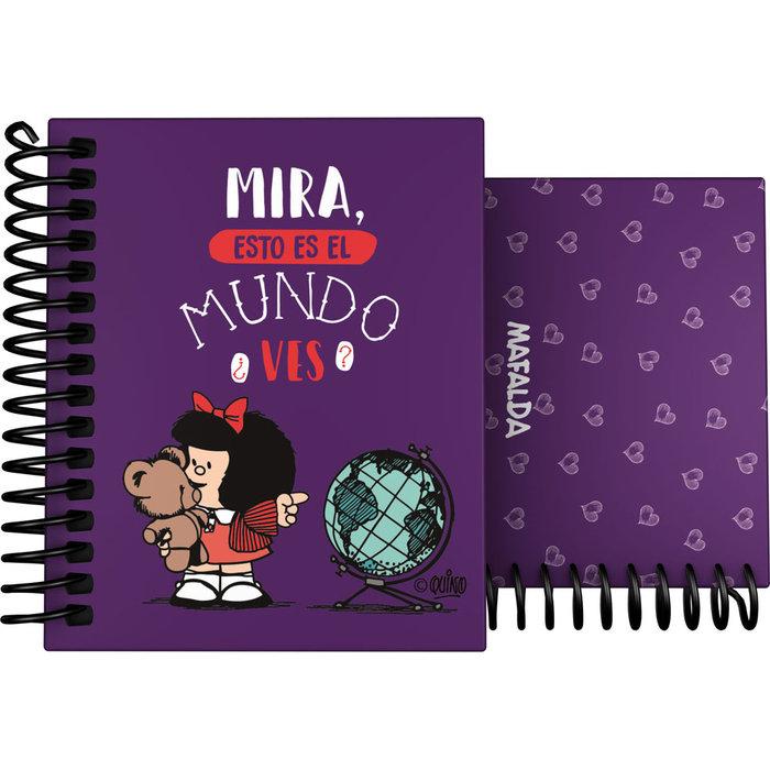 Cuaderno forrado a7 mafalda 21 mundo