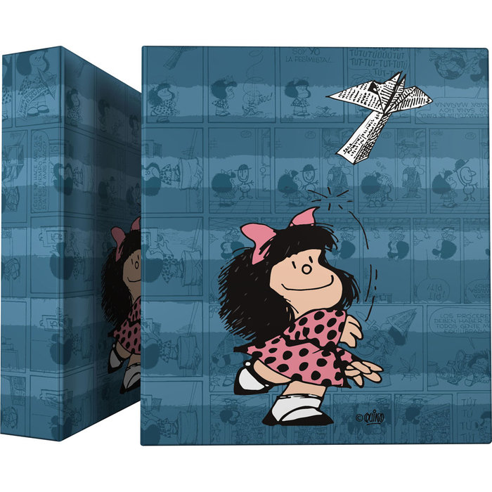 Carpeta a4 4 anillas 40mm forrada mafalda 21 avion