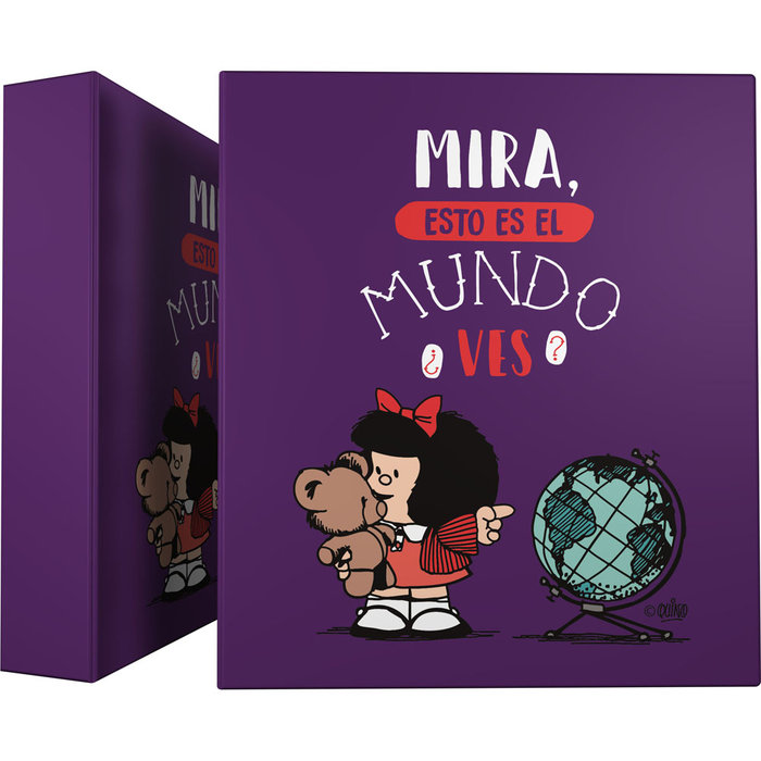 Carpeta a4 4 anillas 40mm for. mafalda 21 mundo
