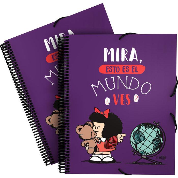 Carpeta 30 fundas maxiplas pp mafalda21 mundo