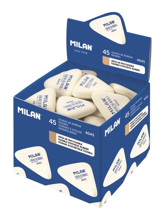 Goma milan 4045 miga de pan triangular pequeÑas color blanco