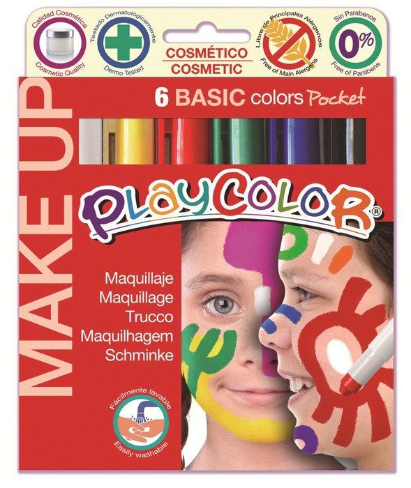 Maquillaje make up basic pocket 6 colores surtidos