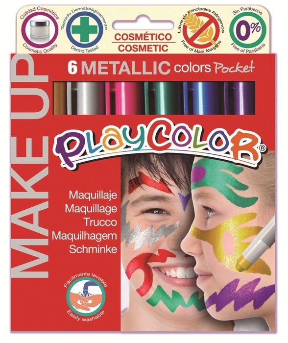 Maquillaje make up metallic pocket 6 colores surtidos