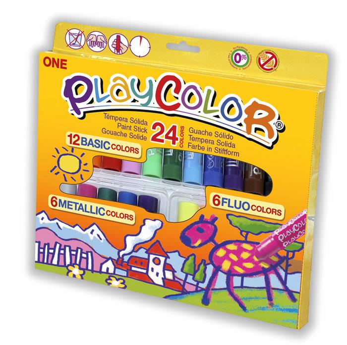 Tempera solida playcolor one 24 colores