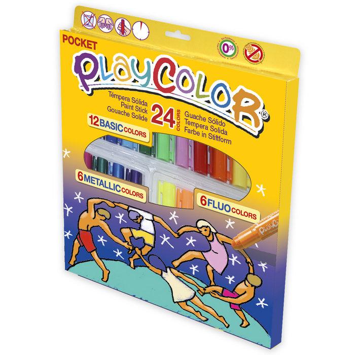 Tempera solida playcolor pocket 24 colores