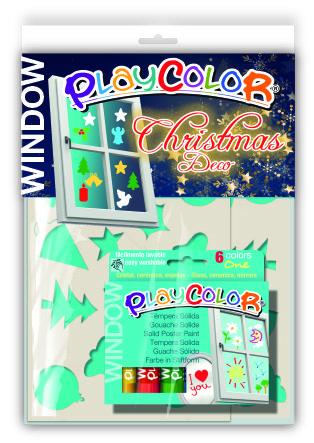 Pintura playcolor window one 6 colores + 2 plan. christmas