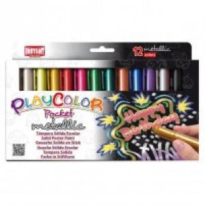 Tempera solida playcolor metallic pocket 12 colores surtido