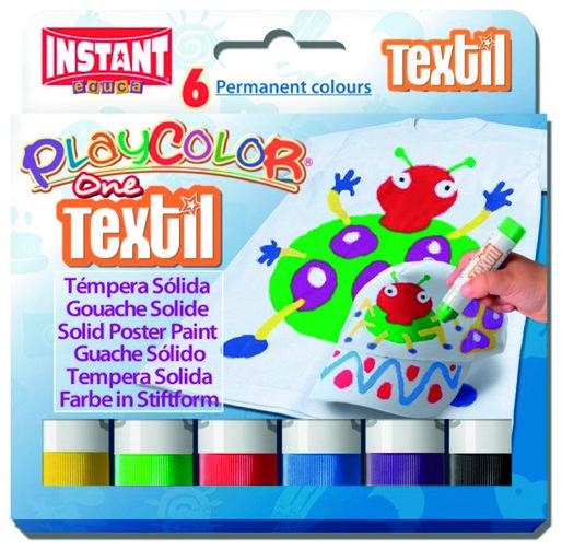 Pintura para ropa textil one estuche 6 colores surtidos