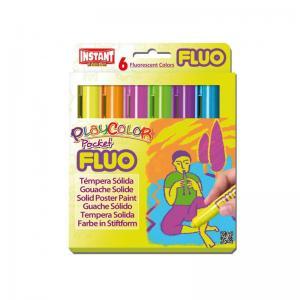 Tempera solida fluor pocket estuche 6 colores surtidos