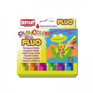 Tempera solida fluor one estuche 6 colores surtidos