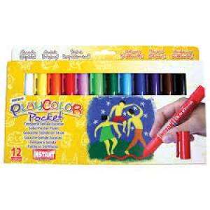 Tempera solida playcolor pocket estuche 12 colores surtidos