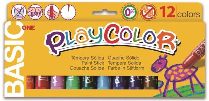 Tempera solida basic one estuche 12 colores surtidos