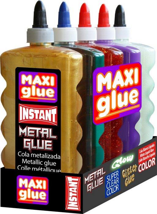 Cola instant maxi glue 500 ml pack surtido 5