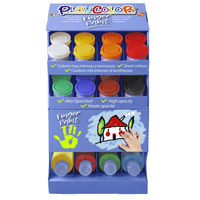 Pintura dedos playcolor finger paint basic exp 40 x 250 ml