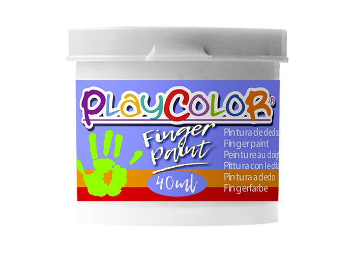 Pintura dedos playcolor finger paint basic 40ml blanco 6 ud
