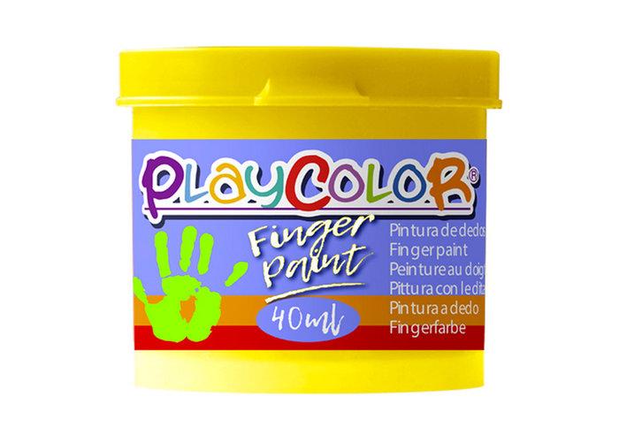 Pintura dedos playcolor finger paint basic 40ml amarillo 6u