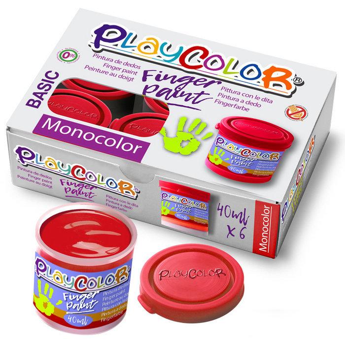 Pintura dedos playcolor finger paint basic 40ml rojo 6 uds