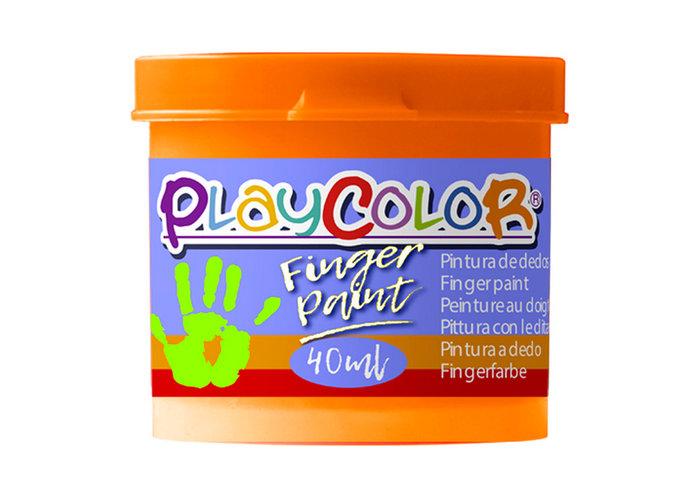 Pintura dedos playcolor finger paint basic 40ml naranja 6 u