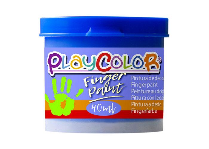 Pintura dedos playcolor finger paint basic 40ml azul 6 uds