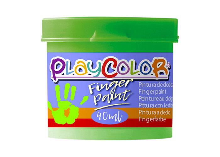 Pintura dedos playcolor finger paint basic 40ml verde 6 uds