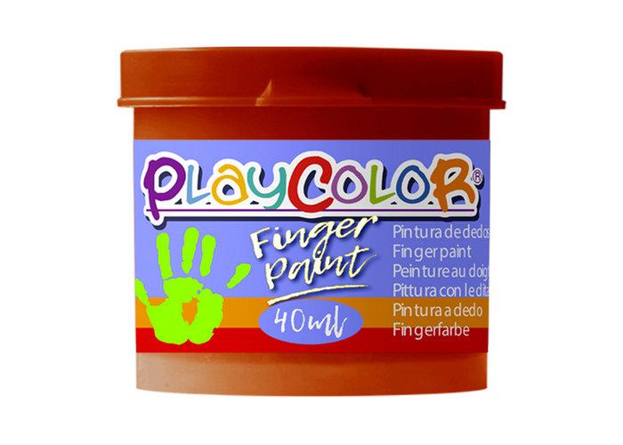 Pintura dedos playcolor finger paint basic 40ml marron 6 ud