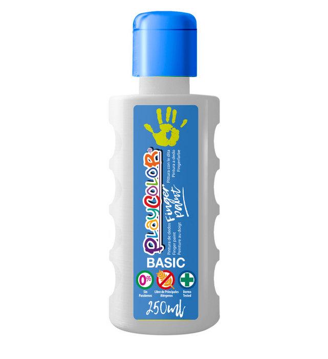Pintura dedos playcolor finger paint basic 250 ml blanco