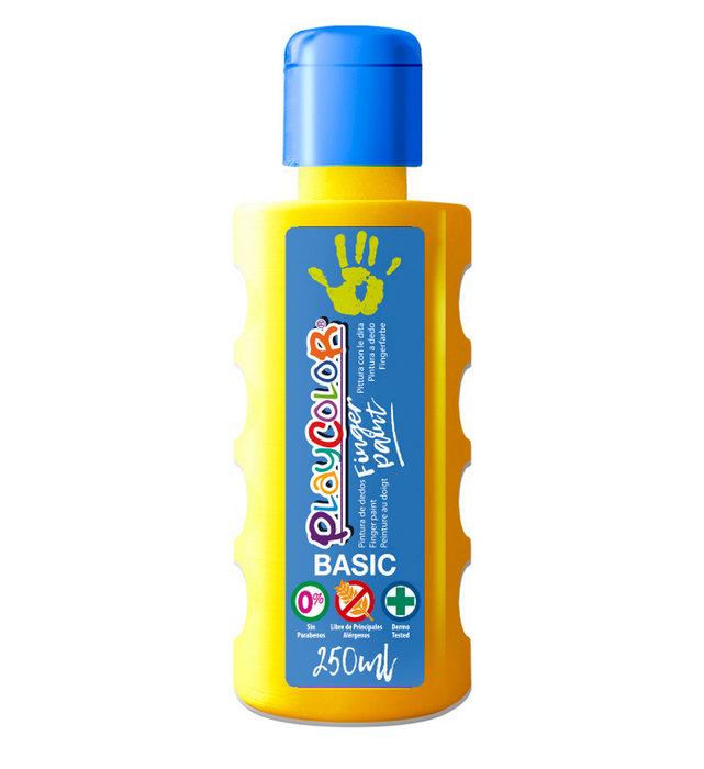 Pintura dedos playcolor finger paint basic 250 ml amarillo