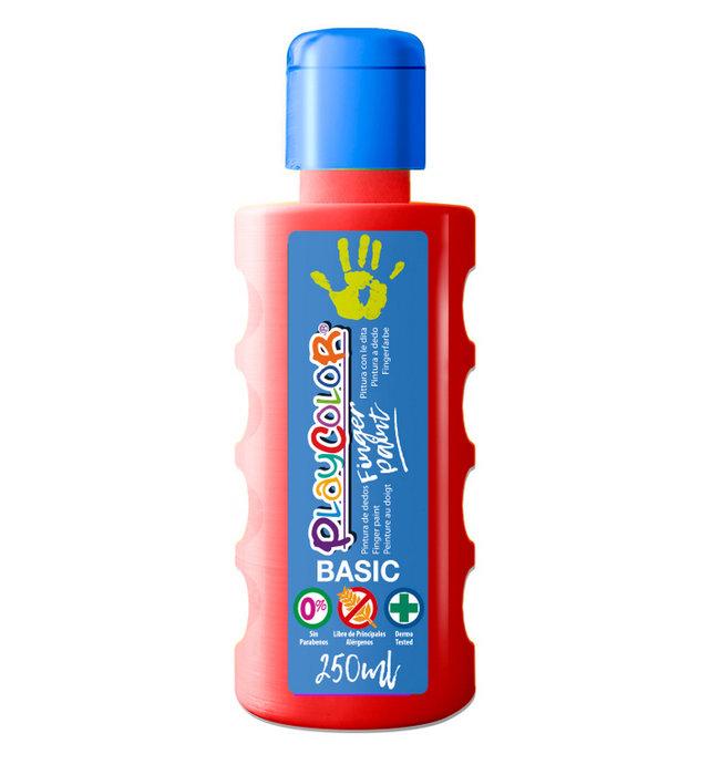 Pintura dedos playcolor finger paint basic 250 ml rojo