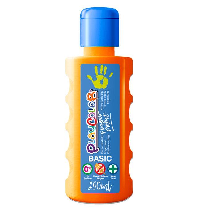 Pintura dedos playcolor finger paint basic 250 ml naranja